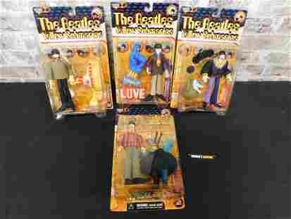 Lot of 4 Beatles McFarlane Action Figures