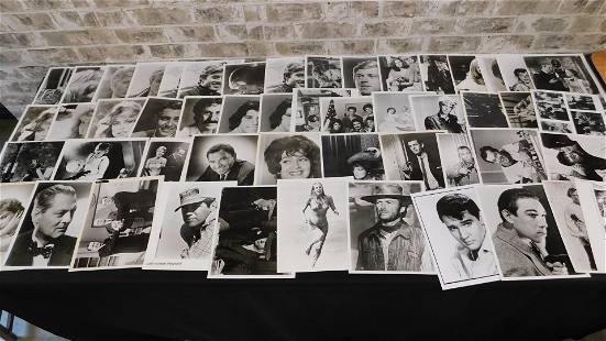 Lot of 50 Original Vintage Photographs of Movie Stars