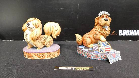 Lot of 2 Jim Shore Disney Traditions Dog Figurines