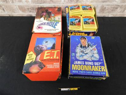 Lot of 4 Topps Movie Photo Trading Card Bubblegum Case