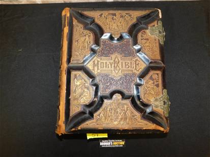 Oversized Leatherbound Holy Bible Parallel-Column
