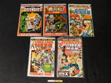 Lot of 5 Marvel Comics including Werewolf by Night #1