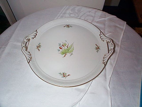 1387: Herend double handled serving tray, measures 12 i