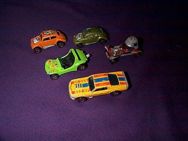 12: Lot of 5 Redline Hot Wheels including Custom Volksw