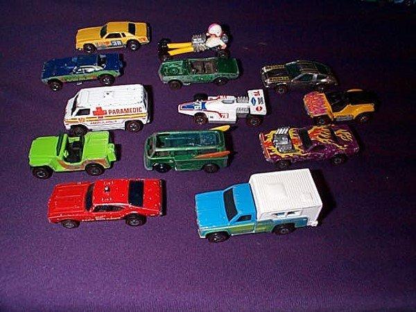 13: Lot of 13 Redline Hot Wheels including Camper, Fire