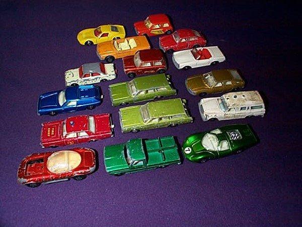 16: Lot of 16 Matchbox Cars. Including Hot Rod Dragger,