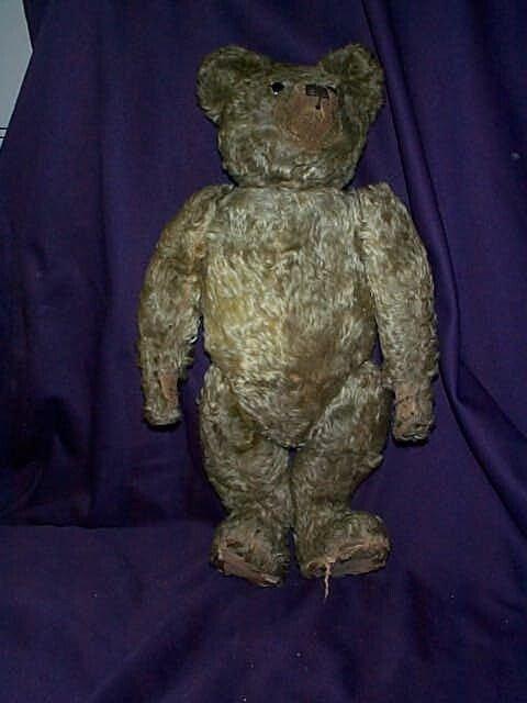 104: Mohair Growler jointed Teddy Bear. Has damage unde