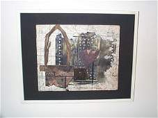 1005 20th C Abstract Collage attributed to Henry Newm