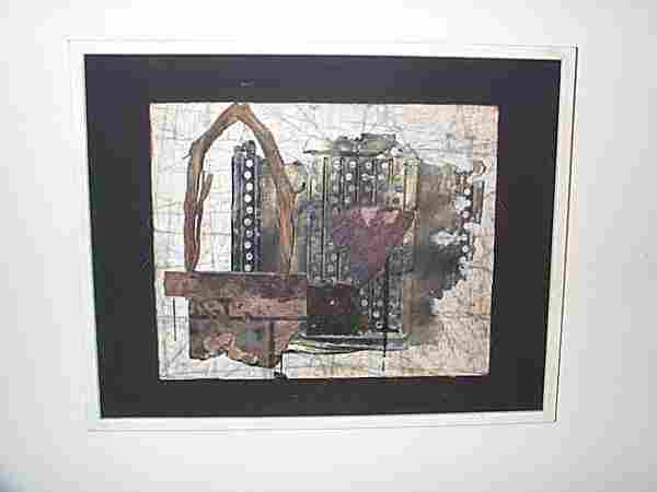 20th C. Abstract Collage attributed to Henry Newm