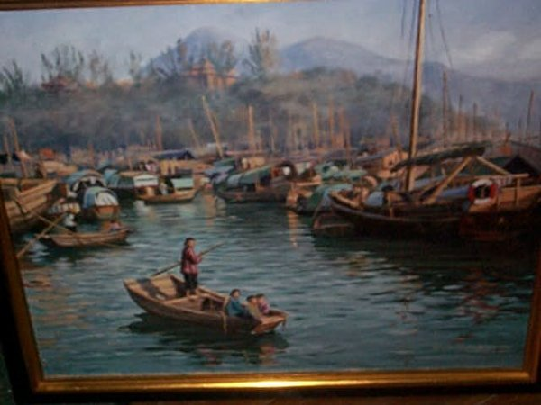 952: 20th century oil on canvas impressionist painting