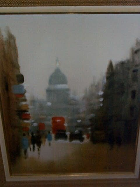 954: 20th Century oil on canvas impressionist painting