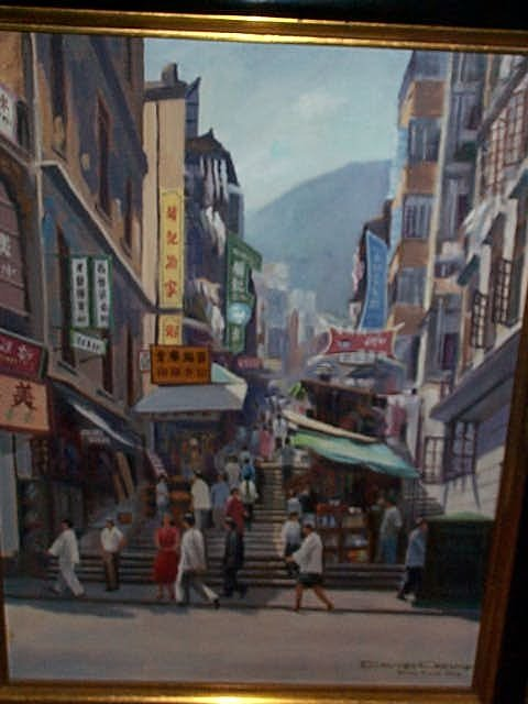 958: 20th century oil on canvas impressionist painting