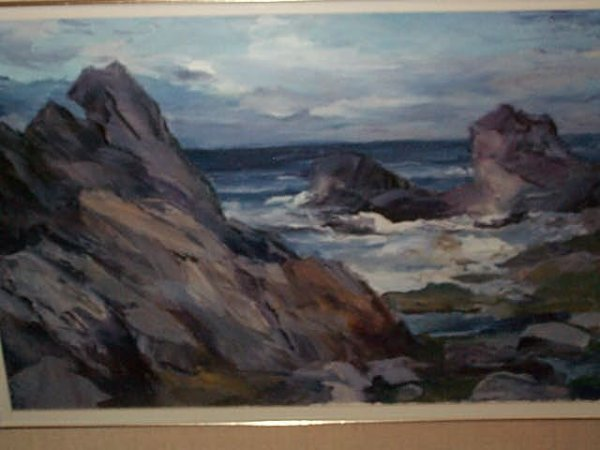 968: Oil on Canvas impressionist painting depicting a c