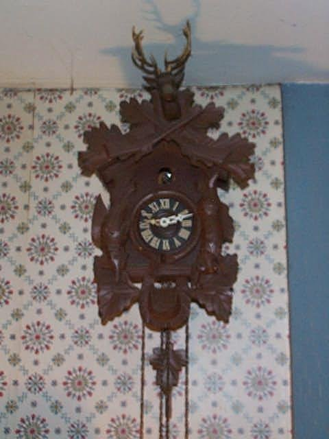 1: German Coo-Coo clock face marked Germany with a deer