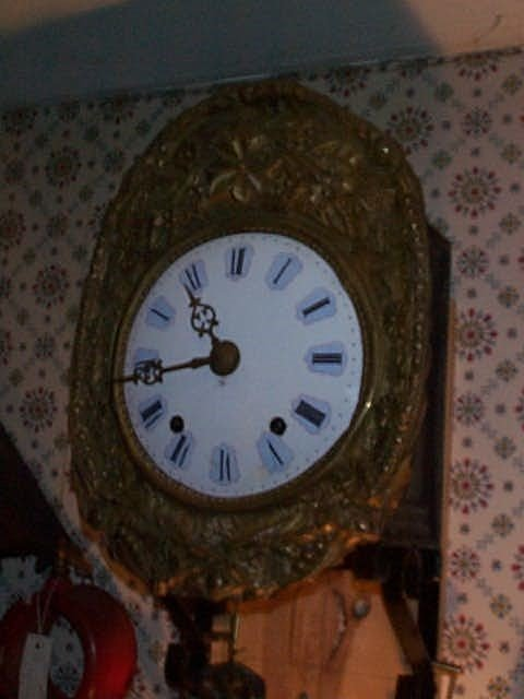 2: French Grandfather clock with original hand colored