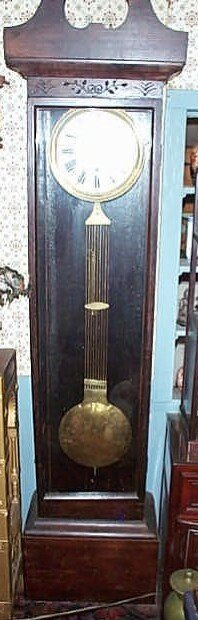 """8: Grandfather clock """"Wag on the Wall"""" in handmade case"""