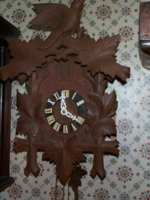 9: German Coo-Coo clock with a bird crest Face marked G