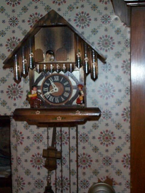 15: German Coo-Coo clock with German figurines dial mar