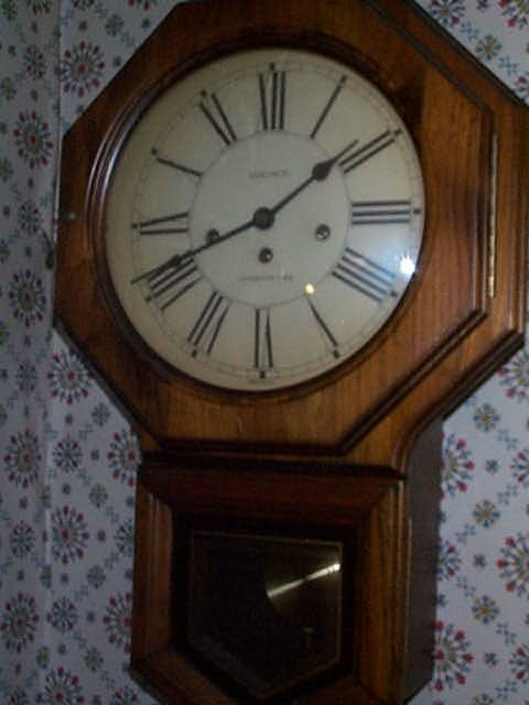 16: Schoolhouse clock. Marked Berichron Westminster Chi