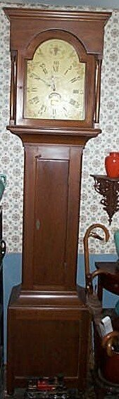 17: 19th century tall case Grandfather clock with repla