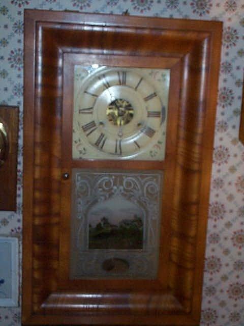 20: Seth Thomas OG Empire mantle clock with reverse pai