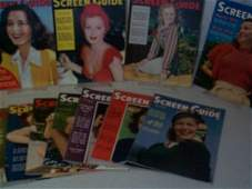 122: Screen Guide Magazine 1940. Lot of 11. Lot include