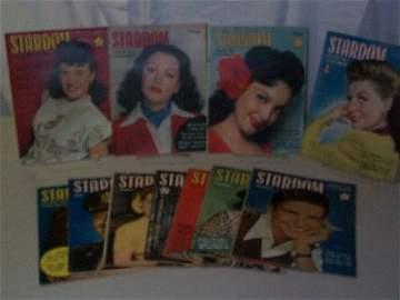 129: Stardom Magazine 1943. Lot of 11.  Lot includes: J