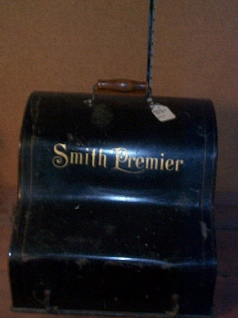 1001: Smith Premiere #2 Typewriter with tin cover case.
