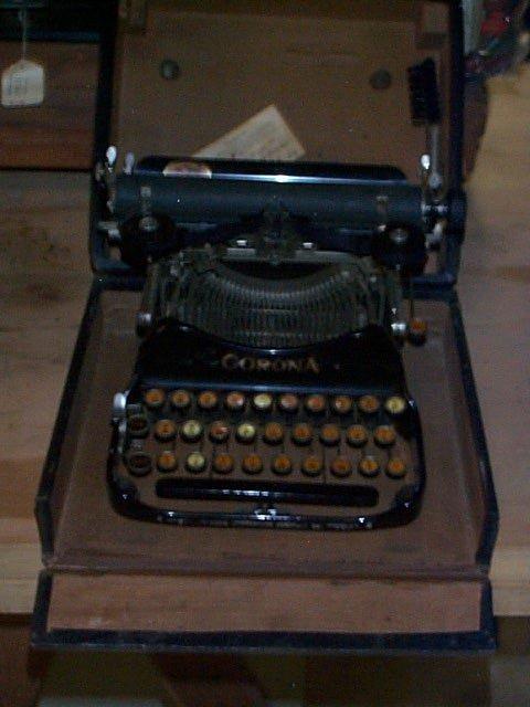 1008: Corona Portable Typewriter in Travel case. Last p