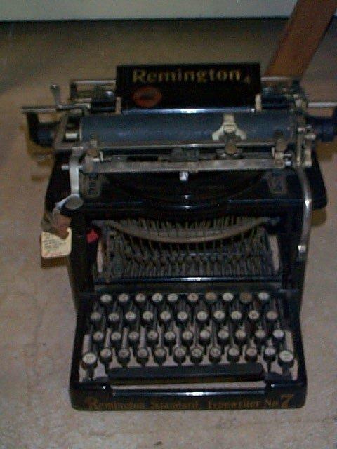 1011: Remington #7 Typewriter First reversing ribbon. I