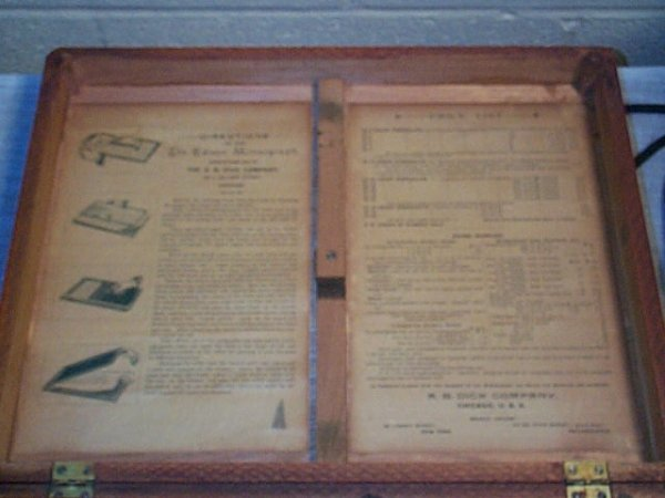 1060: Edison Mimeograph Patent 1880, Made by AB Dick Co - 3
