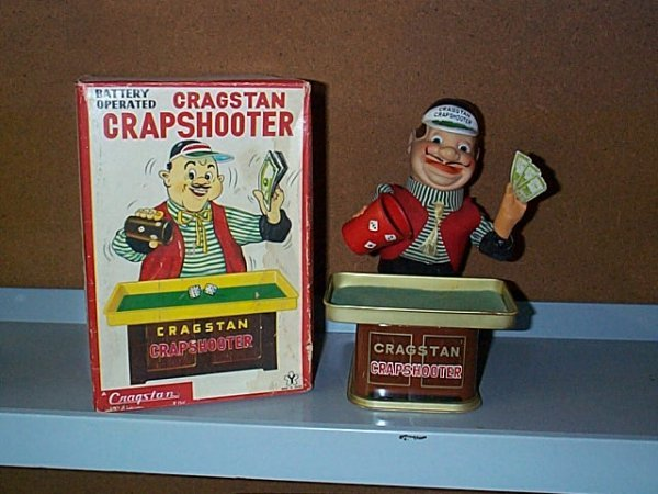 1505: Cragston Battery Operated Crap Shooter. with Orig