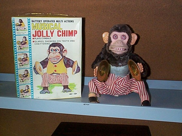 1520: Battery Operated Jolly Chimp, Daishin Brand, with