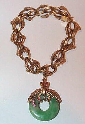 7: 18K Jadeite and Ruby Charm Bracelet