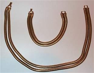 10K Forstner Bracelet and Necklace