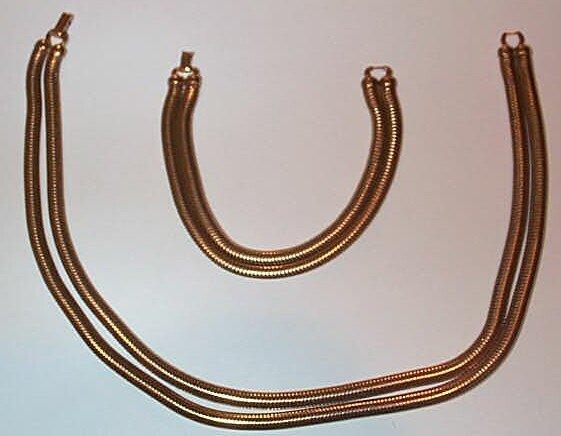 8: 10K Forstner Bracelet and Necklace