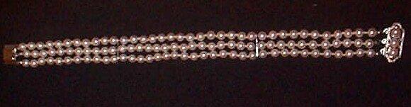 17: Triple Strand Pearl Bracelet