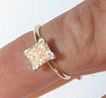 19: 14K Diamond Engagement Ring
