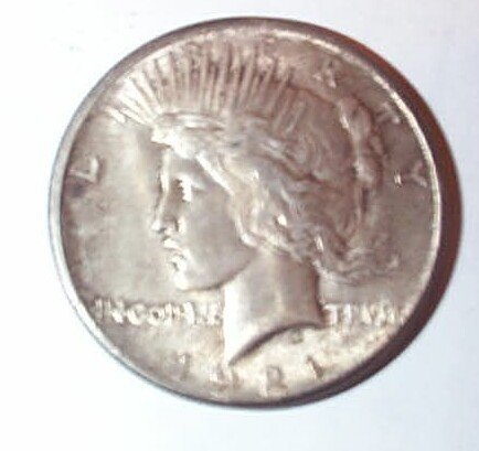 171: 1921 US Peace Silver Dollar