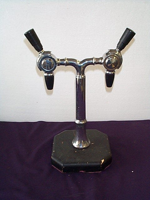 1001: 1950's Mounted Duel Spout Soda Fountain Dispenser