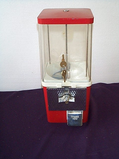 1002: 1950's Gum Ball Machine, Commercial Style, with O