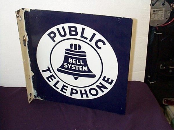 1004: Porcelain Public Telephone Bell Systems, Enamel D