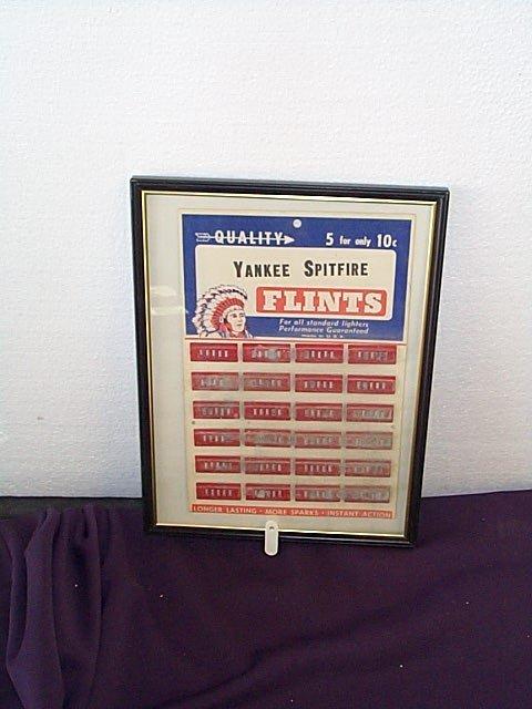 1010: Yankees Spitfire Lighter Flints Store Display int