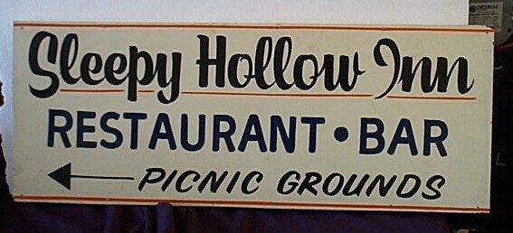 1015: Hand Painted Wood Vintage Advertising Sign, Sleep