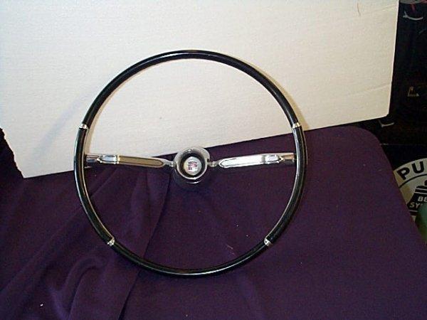 """1019: 1960 Cadillac Steering Wheel, 16.5"""" diameter. Buy"""