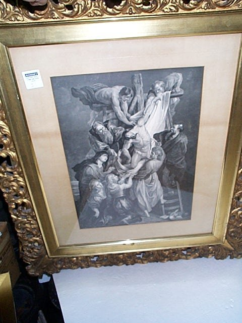 3: Engraving depicting Jesus being taken off the cross
