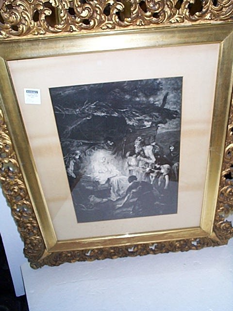 4: Engraving depicting the birth of Jesus Christ in a