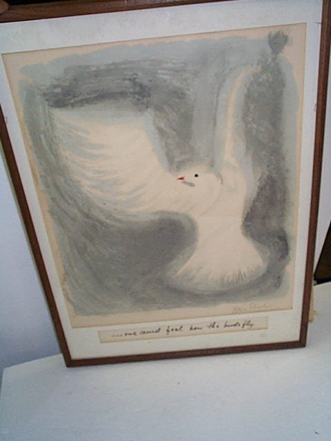 """9: Signed lithograph entitled """"One Must Feel How the Bi"""