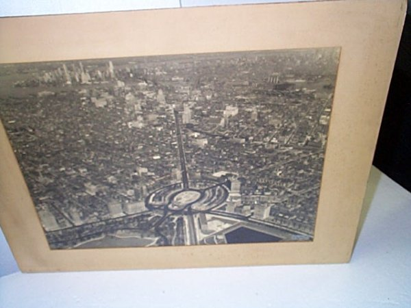10: Arial black and white photograph of Brooklyn with N