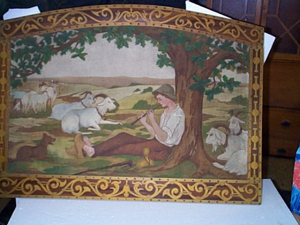11: Oil on canvas depicting a shepherd playing a flute